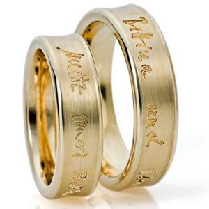 Ausgefallene Eheringe Gelbgold Eheringepaare Design